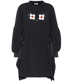 Fendi Embellished cotton-blend sweatshirt dress
