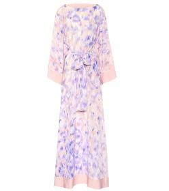 Roberto Cavalli Printed silk maxi dress