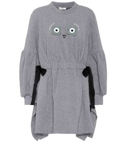 Fendi Embellished cotton-blend dress