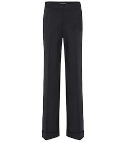 Dolce & Gabbana Wide-legged wool-blend trousers