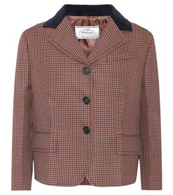 Prada Cropped wool and mohair blazer