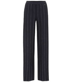 Salvatore Ferragamo Striped crêpe wide-leg trouser