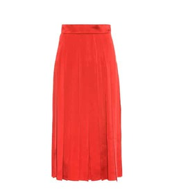 Fendi Pleated satin dress