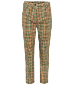 Prada Checked cropped trousers