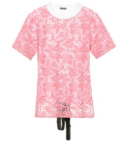 Miu Miu Lace cotton T-shirt