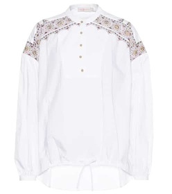 Tory Burch Jayne embroidered cotton top