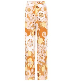 Chloé Printed cotton trousers