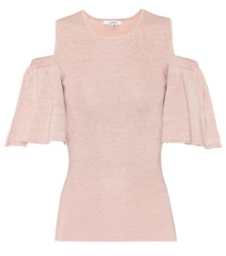Ganni Romilly metallic top