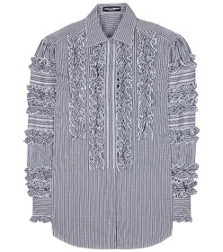 Dolce & Gabbana Ruffled cotton-blend shirt