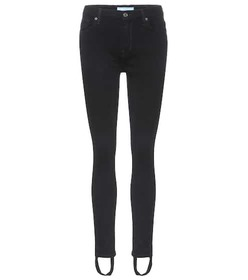 7 For All Mankind Pintuck Ankle skinny jeans