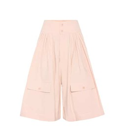Chloé Cotton and linen high-waisted culottes