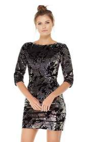 Alyce Paris - 4061 Sequined Bateau Neck Quarter Sl