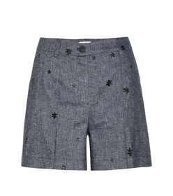 Tomas Maier Embroidered denim shorts