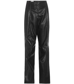 Stella McCartney Faux leather and suede trousers
