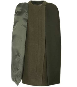 Rick Owens Wool, silk and cotton cape