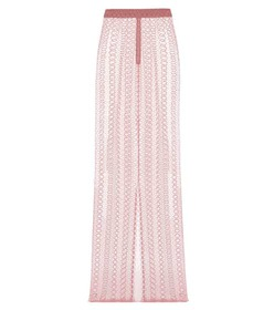 Burberry Embroidered tulle skirt