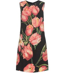 Dolce & Gabbana Printed wool crêpe shift dress