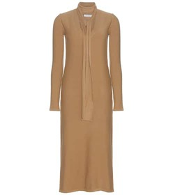 Chloé Wool and cashmere-blend dress with scarf det