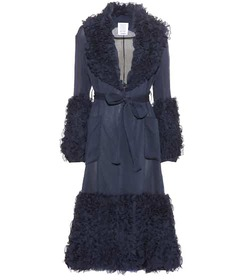 Rosie Assoulin Morel ruffled cotton and silk coat