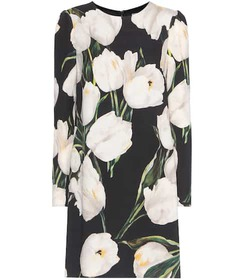 Dolce & Gabbana Floral-printed wool dress