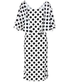 Dolce & Gabbana Polka-dot stretch-silk dress