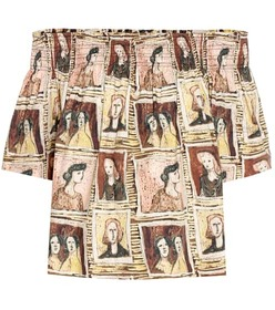 Burberry Framed Heads printed cotton top