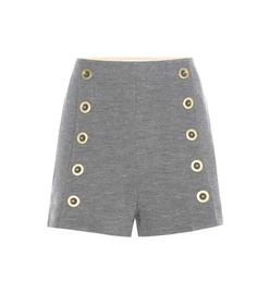 Chloé Embellished wool shorts