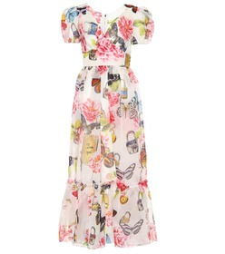 Dolce & Gabbana Floral-printed silk midi dress