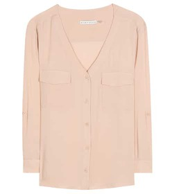 Alice + Olivia Donnie silk blouse