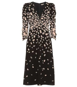 Bottega Veneta Printed crêpe dress