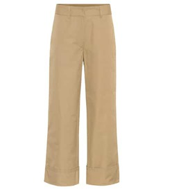 Prada Cropped cotton trousers