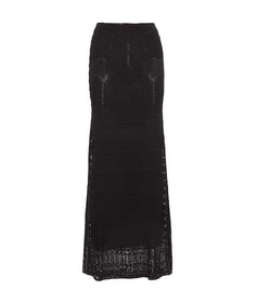 Roberto Cavalli Floor-length crochet-knit skirt