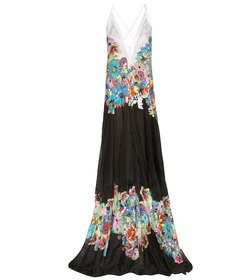 Roberto Cavalli Printed cotton maxi dress