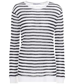 T by Alexander Wang Striped long-sleeved top