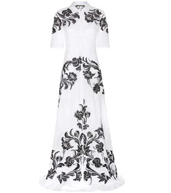 Roberto Cavalli Embroidered cotton dress