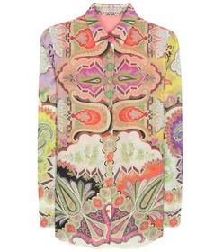 Etro Cotton and silk printed blouse