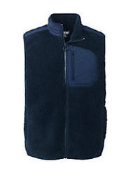 Lands End Men's Sherpa Fleece Hybrid Vest