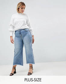 Current Air Plus Wide Leg Jean with Raw Finish