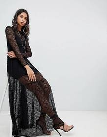 Sabina Musayev Crochet Lace Maxi Gown