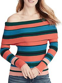 Ella Moss Charlotte Striped Off-The-Shoulder Cotto