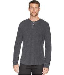 Lucky Brand Burnout Thermal Snap Notch Neck Shirt