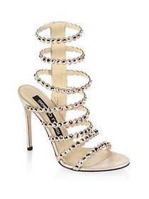 Sergio Rossi Kimberly Crystal Gladiator Sandals CH