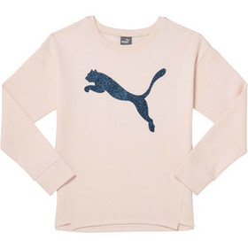 Puma Girl's Fleece Crewneck Pullover JR