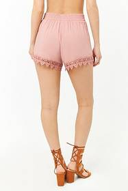 Forever21 Embroidered Trim Shorts