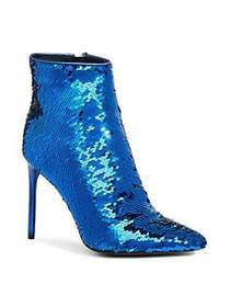 Alice + Olivia Celyn Sequin Booties PALACE BLUE