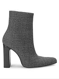 Balenciaga Tweed Block Heel Booties GREY