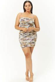 Forever21 Plus Size Camo Bodycon Mini Skirt