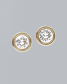 Gold Stud Earrings with Crystals from Swarovski®