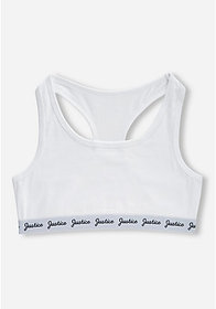 Justice Logo Band Racerback Sports Bra