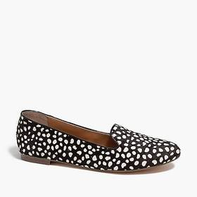 J. Crew Cora leopard calf hair loafers